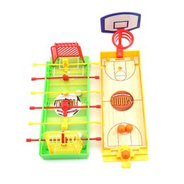Wholesale Toys Basketball Board - Fingers Basketball Soccer Game Kids Education Toys For Children Board Game Brain Hand-eye Coordination Train Sport Toys SA890554