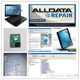 Wholesale Auto Diagnostic Software Chrysler - aldata mitchell auto repair ALLDATA 10.53 and Mitchell on demand 2in1 1tb hdd in x201t computer i7 4g touchscreen auto diagnostic laptop