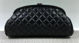 New fashion caviale e pelle di agnello classiche colore nero filo donna borse bolsas femministe da sera borsa donna pochette crossbody da abiti da sposa per designer di seta fornitori