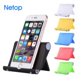 Wholesale free mix pad - Desktop Foldable Ajustable Cell Phone Mounts Pad Holder Portable watch show Nice Gift With Retail Box Free DHL Shipping