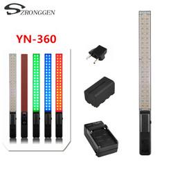 Al por mayor YN360 Wireless Pro Handheld LED Video light 3200K 5500K RGB + batería + cargador desde fabricantes