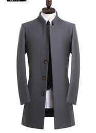 grau wollmantel männer Rabatt Grau casual woolen mantel männer trenchcoats mittellange mantel herren kaschmirmantel casaco masculino england herrenbekleidung 9XL