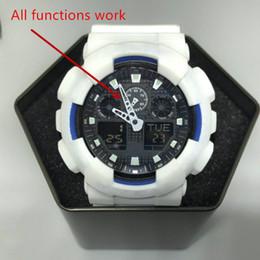 2019 reloj de escalada deportiva 2018-Men GA100 reloj deportivo grande LED impermeable escalada digital reloj de choque de los hombres reloj puntero completo, caja, iluminación automática. reloj de escalada deportiva baratos