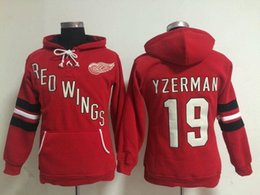 steve yzerman hoodies Coupons - Hot Sale Mens Womens Kids Detroit Red Wings 19 Steve Yzerman Beige Red White Best Quality Cheap Full Embroidery Logos Ice Hockey Hoodies