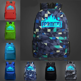 Wholesale night drop box - Hot Fortnite Battle Royale Night Luminous School Bag Backpack Notebook Backpack Daily Backpack 10 Styles Support FBA Drop Shipping H345Q