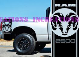 rote grüne bettwäsche setzt Rabatt Für Universal 1 Satz / 2 Stücke Hemi Dodge Ram Kopf 2500 Bett Streifen Lkw Aufkleber Mopar Aufkleber Set von 2 Racing
