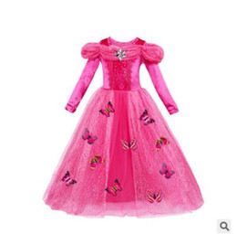 Wholesale Butterfly Tutu Dress Long Sleeve - Girl Cosplay Party Dresses Long Sleeve Baby Kids Multilayer Tulle Clothes Princess Party Evening Butterfly Costume Children Clothing
