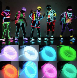 power el wire Coupons - 1pc 3M Flexible EL Wire Tube Rope Battery Powered Flexible Neon Light Car Party Wedding Decoration With Controller