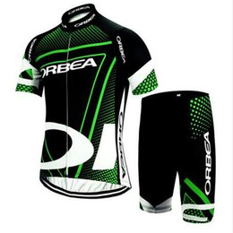Wholesale Belted Suit Jacket - ORBEA team Cycling Short Sleeves jersey (bib) shorts sets 2018 men new summer Racing Mountain Bike riding jacket belt riding suit thin C1714