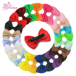 Wholesale Little Girl Boutique Wholesale - XIMA 24pcs lot 2''Mini Bow For Little Girls Boutique Hairpin Kid Hair Accessories Children Mini Hair Clip Free Shipping