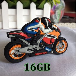 Wholesale 16 gb flash drives - 16 GB USB 2.0 Flash Memory Drive Stick Pen Storage Thumb U Disk Motorcycle Model u19