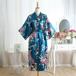 Vestidos sexy chineses sexy on-line-Hot Sale Drak verde chinês Silk Mulheres Rayon Robe vestido de bridemaids Sexy casamento Nightgown Kimono Banho Plus Size