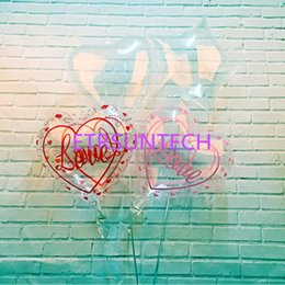 2019 palloncini trasparenti di elio 18inch trasparente trasparente Balloons stella cuore amore elio globos matrimonio compleanno festa decorazione spedizione gratuita QW7898 palloncini trasparenti di elio economici