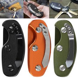 Wholesale Outdoor Aluminum Bar - Multifuction Keychain Tools Folding Keys Organizer EDC Holder Pocket Aluminum Key Bar EDC Outdoor Survival Tool