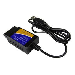 Carro obd usb on-line-Melhor Qualidade OBD / OBDII scanner V1.5 ELM 327 USB ferramenta de verificação de interface de diagnóstico do carro ELM327 interface USB