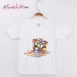 Wholesale puzzle games girls - 2018 New Children T-shirt Puzzle Game 3D Design Art Cotton Short Child Shirt Boys T Shirts Kids Tops Girls Clothes Free Shipping