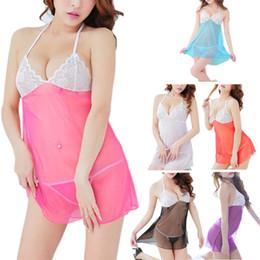 684fa544bc Women s See Through Sujetador de encaje Camisones Lencería sexy Backless Sleepwear  Babydoll rebajas ver a través de camisones lencería