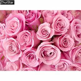 2019 mosaicos de rosas venta al por mayor Taladro Cuadrado Completo 5D Pintura Diamante BRICOLAJE