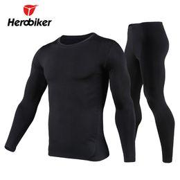 Wholesale fleece lined shirt l - Herobiker Men's Fleece Lined Thermal Underwear Set Motorcycle Skiing Base Layer Winter Warm Long Johns Shirts & Tops Boom Suit