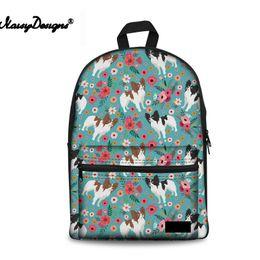bc94c5093a5 School Bag Backpack For Teenager Girls Papillon Flower Fashin Women Canvas  Shoulder Satchel Student Cute Backpacks Girls