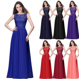 Wholesale Orange Chiffon Gown - 2018 Spring Summer Lace Chiffon Bridesmaid Dresses Real Pictures A Line Jewel Neck Cheap Wedding Guest Dresses Prom Evening Gowns CPS463
