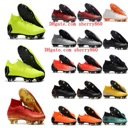 Canada 2018 chaussures de football pour hommes Mercurial Vapor VI Elite CR7 neymar SG AC chaussures de football en plein air Crampons de chaussures de football Mercurial Superfly hotsale Offre