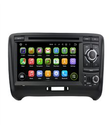 Wholesale audi gps radio - Android 8.0 4G RAM   For AUDI TT 2006-2013 Android 7.1 2G 2 DIN Car DVD PLAYER with GPS radio stereo wifi navigation touch screen multimedia