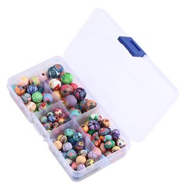 Wholesale Making Clay Beads - Mixed size Fimo Polymer Clay Spacer Loose Beads For Handmade Bracelet Necklace Accessories Jewelry Making G190L