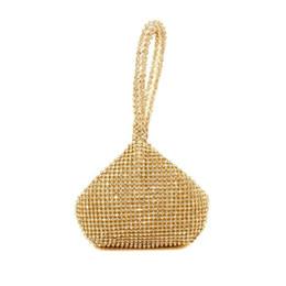 Trasporto libero nuovo 2017 moda oro argento diamante lusso mini festa cena borse frizioni borsa da sera RQR057 da
