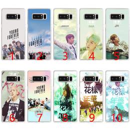 cas pour samsung Promotion Bts bangtan Jeune étui en silicone souple pour toujours pour Samsung Note 9 8 S7 Edge S8 S9 Plus