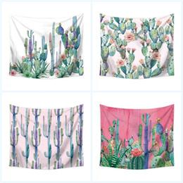 цифровая печать текстиль Скидка Кактус цифровая печать пляжное полотенце многофункциональный настенный домашний текстиль полиэфирное волокно творческий йога одеяло Home Decor 19yt3 jj