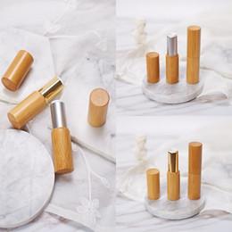 2019 schalenrohr 3.8g Klassische Bambus Holz Lippenstift Natürliche Lipgloss Rohr Shell DIY Leere High-End-Bambus Lippenstift Container günstig schalenrohr
