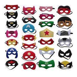 Mascarada máscaras dança on-line-Máscara de decoração de Halloween Máscara de Olho das Crianças Superhero Natal Dos Desenhos Animados sentiu máscaras Máscaras Máscaras de festa de Dança