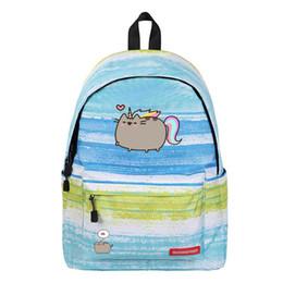 Cartone animato gatto zaino unicorno carino bello formaggio gatto Galaxy scuola borse viaggio borsa stelle universo spazio stampa cheap cheese bags da sacchetti di formaggio fornitori