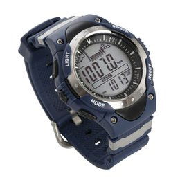 Wholesale Weather Barometers - SUNROAD Sports Watch FR716 Weather Forecast Fishing Place Record Barometer Altimeter Thermometer Backlight Digital Men Watch