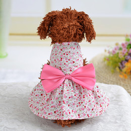 Wholesale Mardi Gras Tutu - 2018 Hot Sales Tutu Dress Pink Pet Dog Bowknot Princess Clothes Pet Only for Small Dog