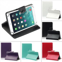Wholesale free tablet cases - Hot Selling Universal PU Leather Stand Cover Case For 7 Inch Tablet PC Pure Color Free Shipping