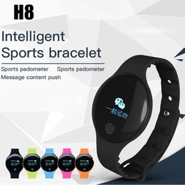 Orologio da tavolo online-H8 Fitness Bracelet Sleep Tracker Smart Wristband Bluetooth Anti-lost Remind Call Necklace Step Counter Sport Watch for iPhone IOS Android