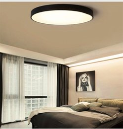 Wholesale Holidays Nature - RC Dimmable UltraThin 5cm Led Ceiling Lamp living room Lamp Modern Simple bedroom dining room round acrylic Ceiling Lights Plafondlamp