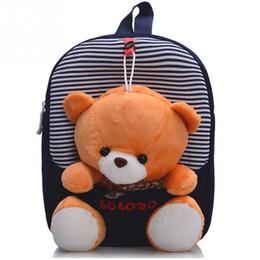 Wholesale Ribbon Bear - 2017 Children school bags backpack kindergarten girls boys kid backpack cute cartoon toys bear ribbons bow mochila escolar