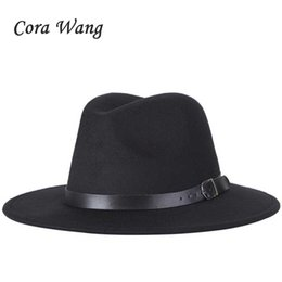 free shipping 2018 new Fashion men fedoras women s fashion jazz hat summer  spring black woolen blend cap outdoor casual hat f3e371c09aa9