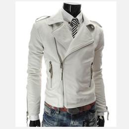 Wholesale Slim Large Lapel Coat - Wholesale- Plus size XXL 2016 new personalized men's Leather jacket coat multi-zipper large lapel men Slim Faux Leather clothing outerwear
