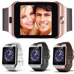 Wholesale German Retail - DZ09 Smart Watch Dz09 Watches Wristband Android Watch Smart SIM Intelligent Mobile Phone Sleep State Smart watch Retail Package