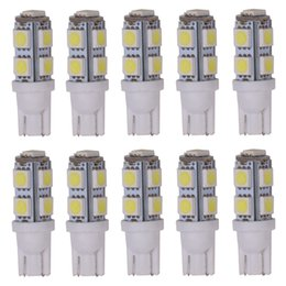 Wholesale 168 Led Red - DC12v white bule red green pink w5w 168 194 T10 9SMD 5050 Wedge base LED car Instrument bulb Light