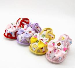 4cd4ebaced79e Vente en gros-Summer Toddlers bébé mignon Bow chaussures à semelle souple enfants  bébé filles chaussures antidérapantes princesse chaussures peu coûteux ...