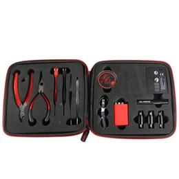 2019 medidores Vape Tool Kit Vapor E-Cig herramienta V2 kit DIY bobina de cigarrillo electrónico Ohm Meter Para RDA RBA Atomizer medidores baratos