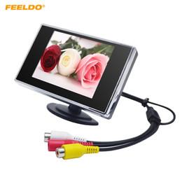 """Carro lcd digital que inverte a câmera on-line-FEELDO Car Digital 3.5 """"TFT LCD Stand-alone Monitor Do Carro Reverso para DVD Videocassete VCD Câmera de Backup # 1308"""
