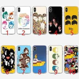 Telefone celular on-line-Banda rock and roll the beatles letras music soft silicone tpu phone case para iphone 5 5s se 6 6 s 7 8 plus x xr xs max capa