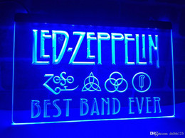 Wholesale neon sign bands - LA313b- Best Band Ever Led Zeppelin LED Neon Light Sign
