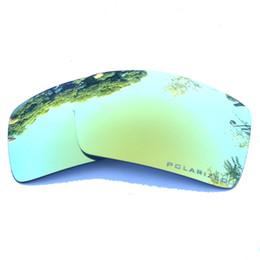 Lentes de substituição de óculos de sol on-line-Lentes de substituição polarizadas espelhadas do ouro 24K para a anti poeira da água salgada de Eyepatch 2 dos óculos de sol anti